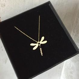 Naszyjnik ważka ze złota 9 Karat