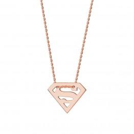 Naszyjnik Superwoman z różowego złota 9 karat