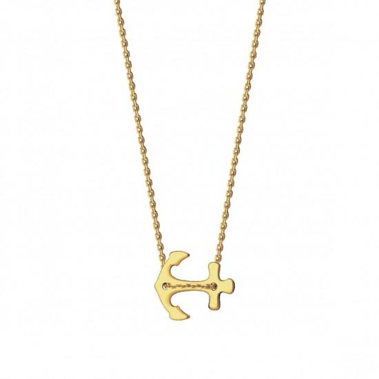 Naszyjnik kotwica ze złota 14ky