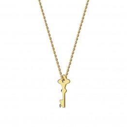Naszyjnik z mini kluczykiem ze złota 9 karat