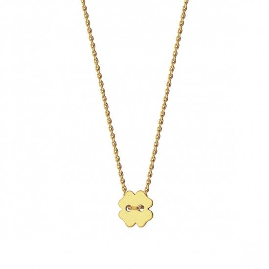 Naszyjnik koniczyna ze złota 14ky