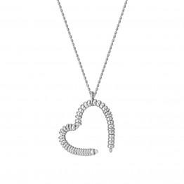 Naszyjnik duże serce z oponek ze srebra 925