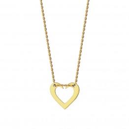 Naszyjnik otwarte serce ze złota 14 karat