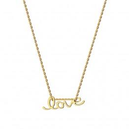 Naszyjnik Napis LOVE ze złota 14 karat