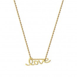 Naszyjnik Napis LOVE ze złota 9 karat