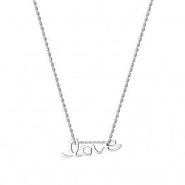 Naszyjnik Napis LOVE ze srebra