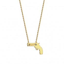 Naszyjnik z jednym pistoletem ze złota 14 karat