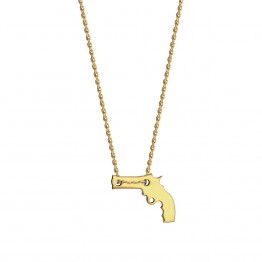 Naszyjnik z jednym pistoletem ze złota 9 karat