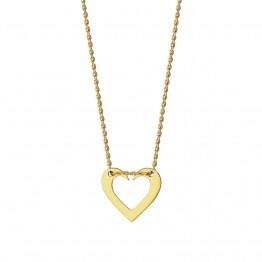 Naszyjnik otwarte serce ze złota 9ky
