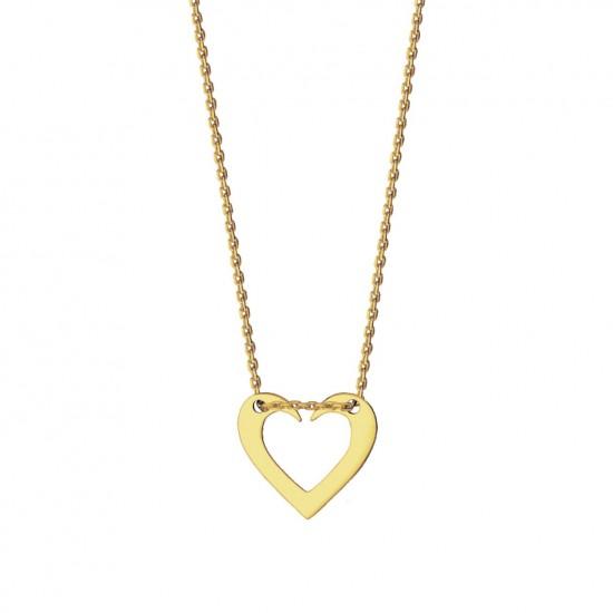 Naszyjnik otwarte serce ze złota 9 karat