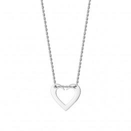 Naszyjnik otwarte serce ze srebra 925
