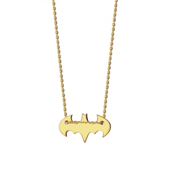 Naszyjnik Batman ze złota 14 karat