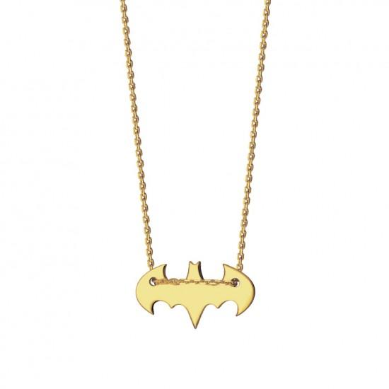 Naszyjnik Batman ze złota 9 karat