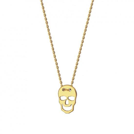 Naszyjnik czaszka ze złota 9 karat