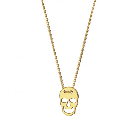Naszyjnik czaszka ze złota 14karat