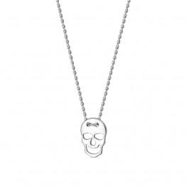 Naszyjnik czaszka ze srebra pròby 925