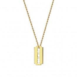 Naszyjnik żyleta ze złota 14 karat