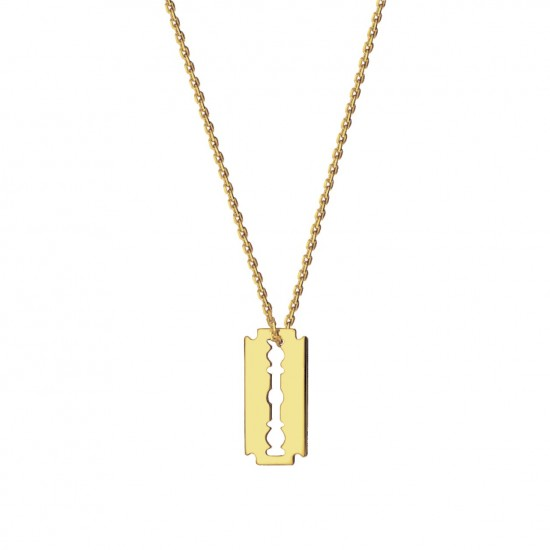 Naszyjnik żyleta ze złota 9 karat