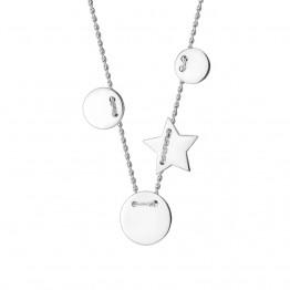 Naszyjnik klasyczne kółka ze srebra 925