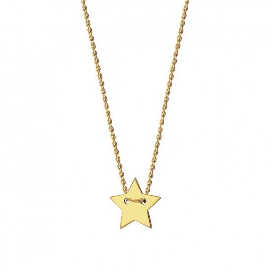 Naszyjnik z gwiazdką ze złota 9 karat