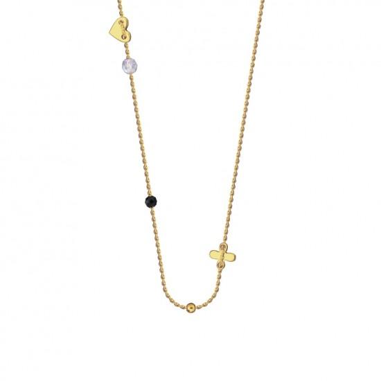 Naszyjnik oxalis hearts złoto 9k
