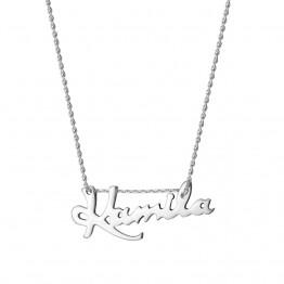 Naszyjnik z dowolnym napisem ze srebra 925