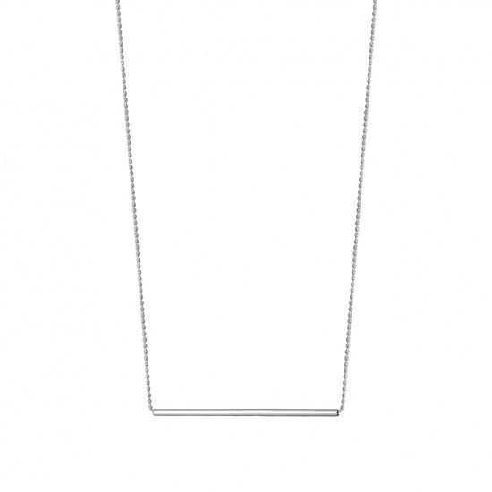Naszyjnik z długą rurką ze srebra 925