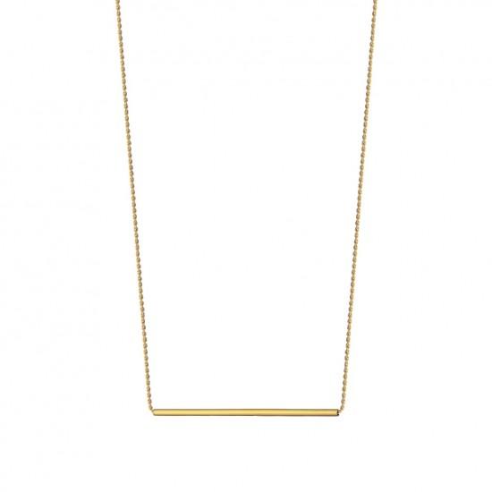 Naszyjnik z długą rurką ze złota 9 Karat