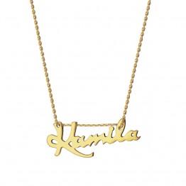 Naszyjnik z dowolnym napisem ze złota 14 Karat