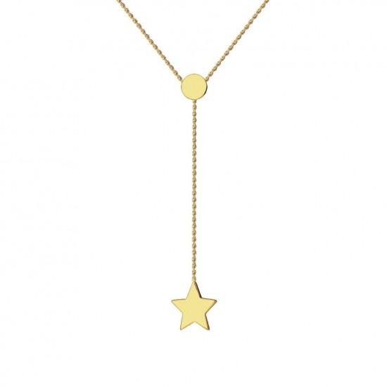 Naszyjnik z gwiazdką na łańcuszku ze złota 9 Karat