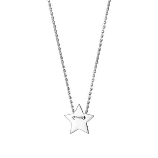 Naszyjnik z gwiazdką z białego złota 9 karat