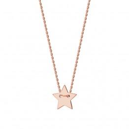 Naszyjnik z gwiazdką z różowego złota 9 karat