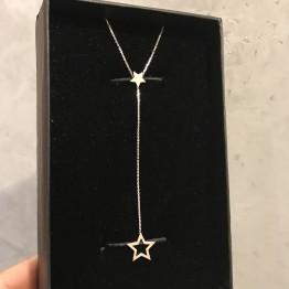 Naszyjnik z ażurową Gwiazdką na łańcuszku ze srebra