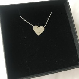 Naszyjnik serce puzzel ze srebra 925