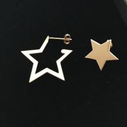 Kolczyki sztyft gwiazdy mix
