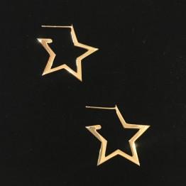 Kolczyki sztyft gwiazdy ażur