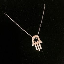 Naszyjnik Ręka Fatimy w złocie 14 karat