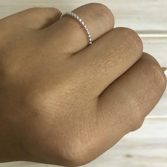 Obrączka z drucika w kształcie pełnych kulek 1,5 mm