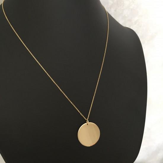 Naszyjnik klasyczne koło ze złota 14ky