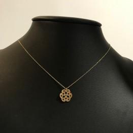 Naszyjnik mini więzy przyjaźni ze złota 14ky