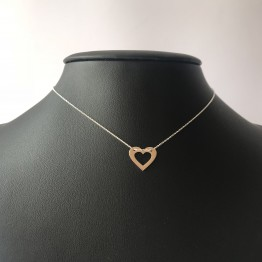 Naszyjnik serce w sercu 925