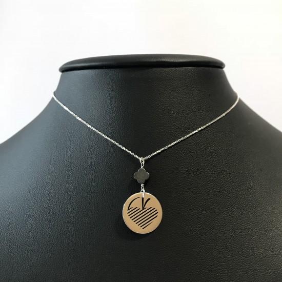 Naszyjnik koło ażur logo AS srebro 925