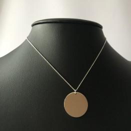 Naszyjnik klasyczne koło ze srebra 925