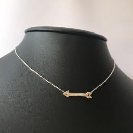 Naszyjnik strzała Amora ze srebra 925