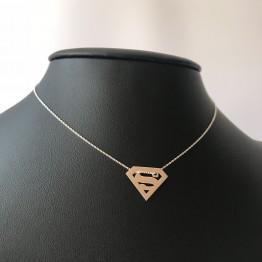 Naszyjnik superwoman srebro 925