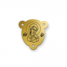 Medalik ikona Pneumatofora ze złota 9ky