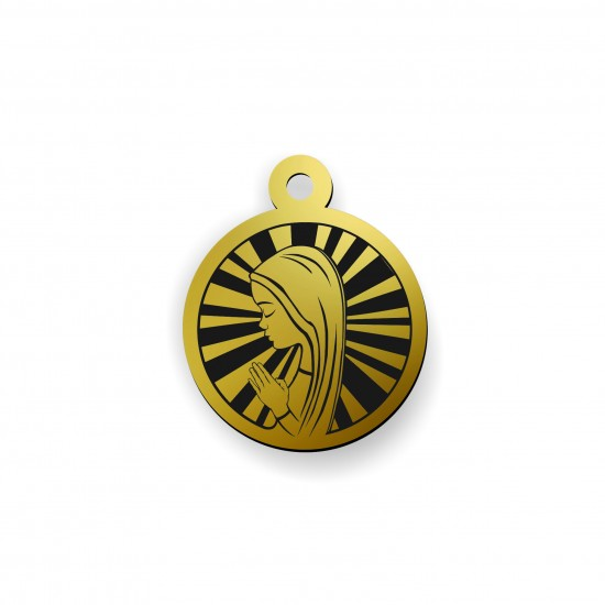 Medalik ikona ze złota 9ky