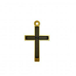 Krzyżyk z grawerem inicjały złoto 9ky