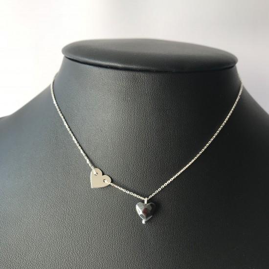 Naszyjnik BOHO z sercem ze srebra 925