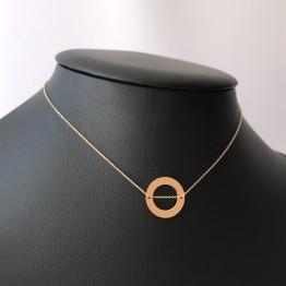 Naszyjnik ring ze złota 9ky